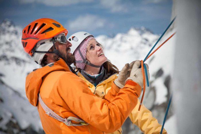 Eisklettern Pitztal mit Bergführer