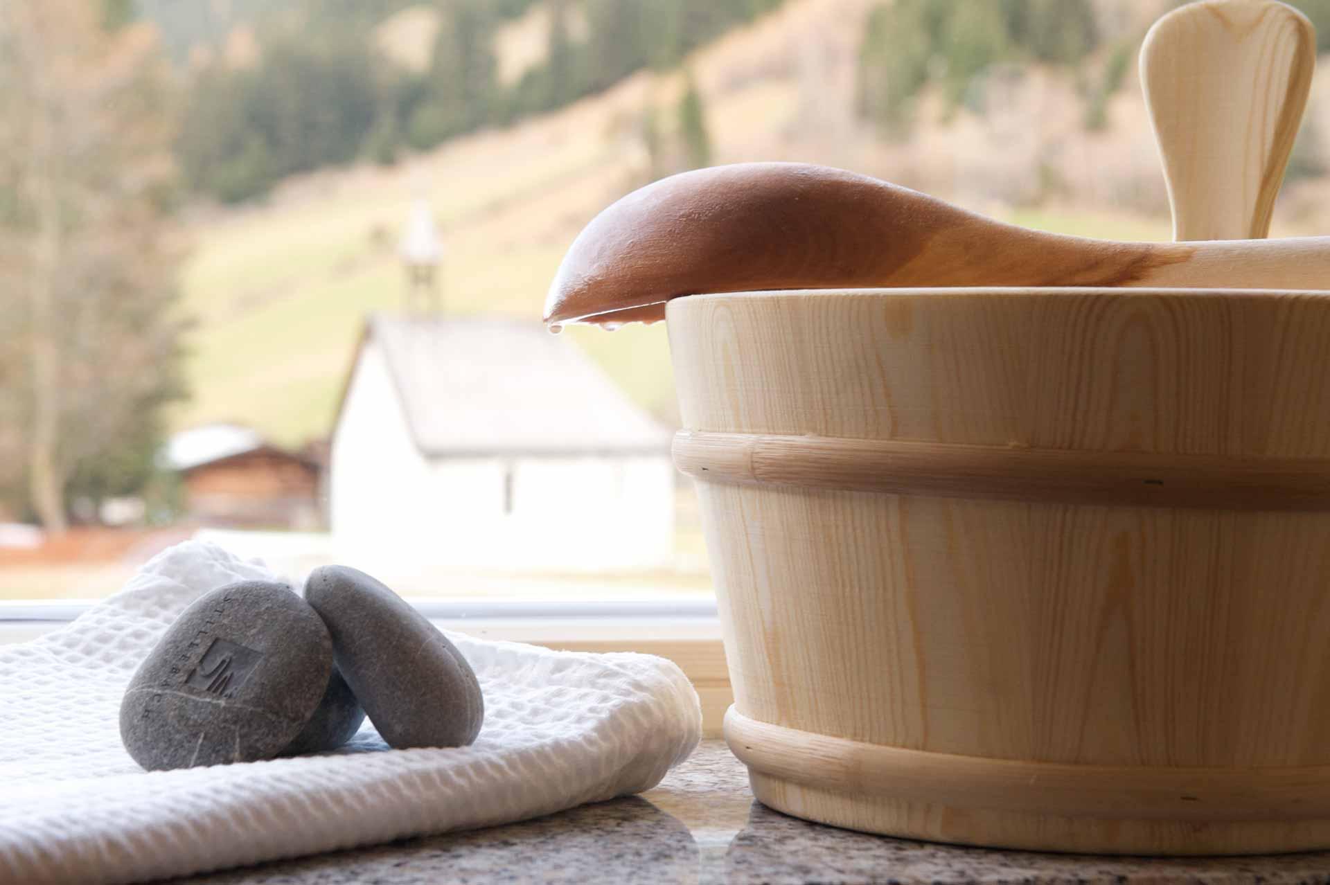 Sauna Detailaufnahme Biohotel Stillebach