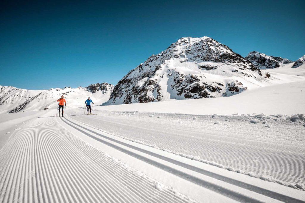 Höhenloipe am Pitztaler Gletscher